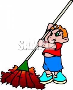 Pile Of Fall Leaves Clipart A Boy Raking A Pile Leaves 110927 204165