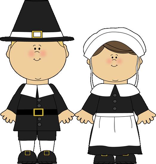 Pilgrim Boy And Girl Blond Haired Pilgrim Boy And A Pilgrim Girl
