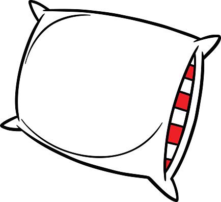 Pillow Party vector art illustration