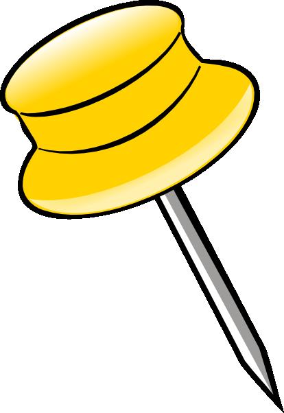 Pin - Yellow clip art - vector clip art online, royalty free