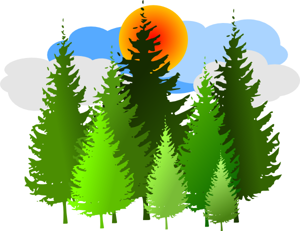 Pine Tree Grouping 2 Clip Art At Clker Com Vector Clip Art Online