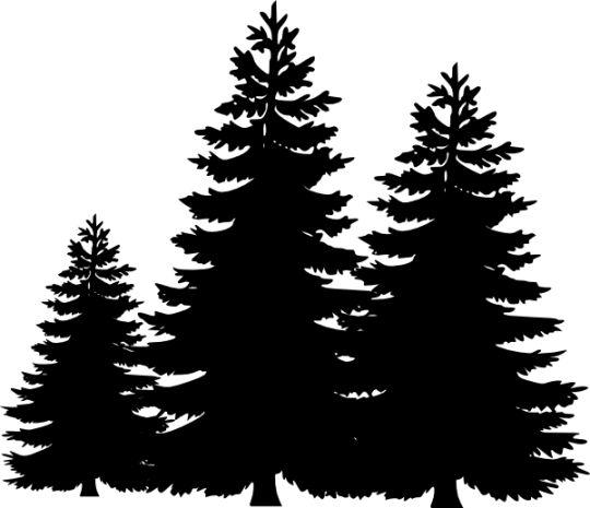 Pine Tree Silhouette Clip Art - Cliparts.