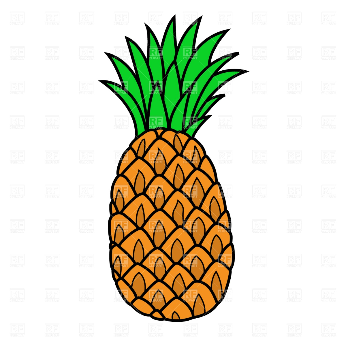 Pineapple Clipart-Clipartlook.com-1200
