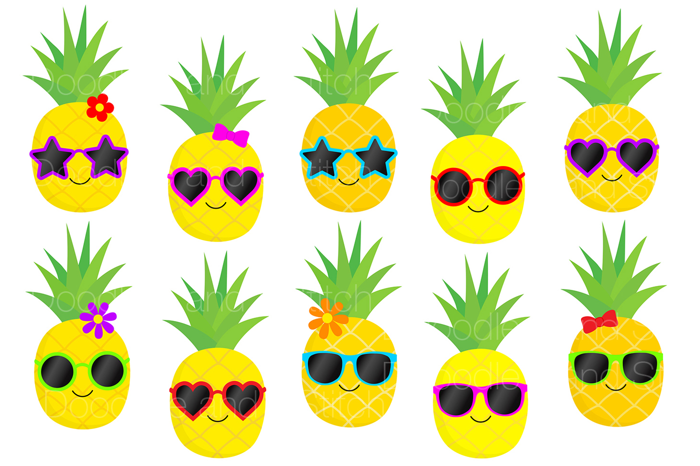 Pineapple Clipart-Clipartlook.com-1400