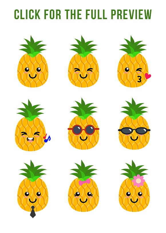Pineapple Clipart-Clipartlook.com-580