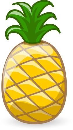 Cartoon pineapple Illustration