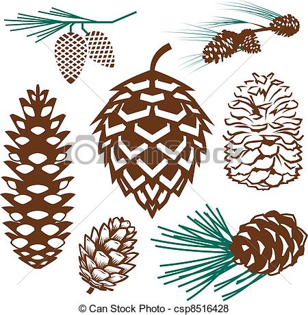Pinecone Collection - Clip art collection of various styles.