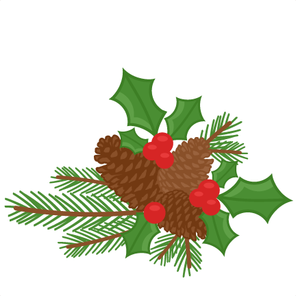 ... pinecones holly berries; holly berry symbol of; royalty free clipart ...