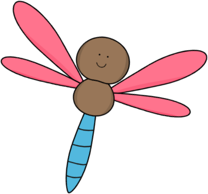 Pink and Brown Dragonfly