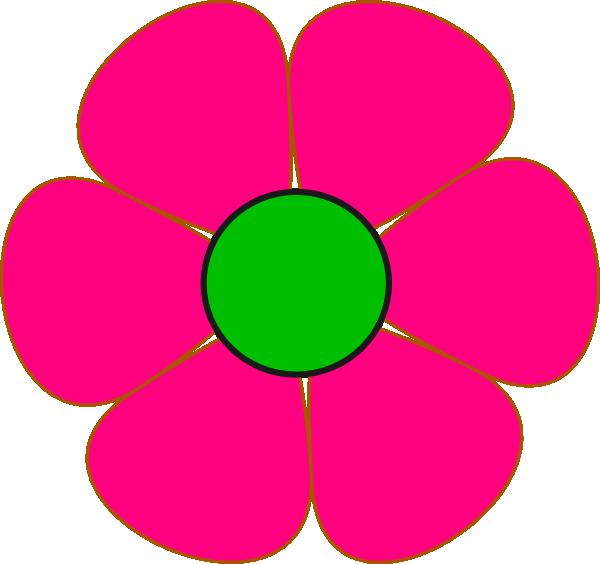 Pink And Green Flower clip art - vector clip art online, royalty