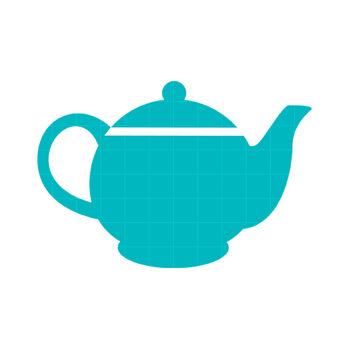 Pink and green teapot clipart