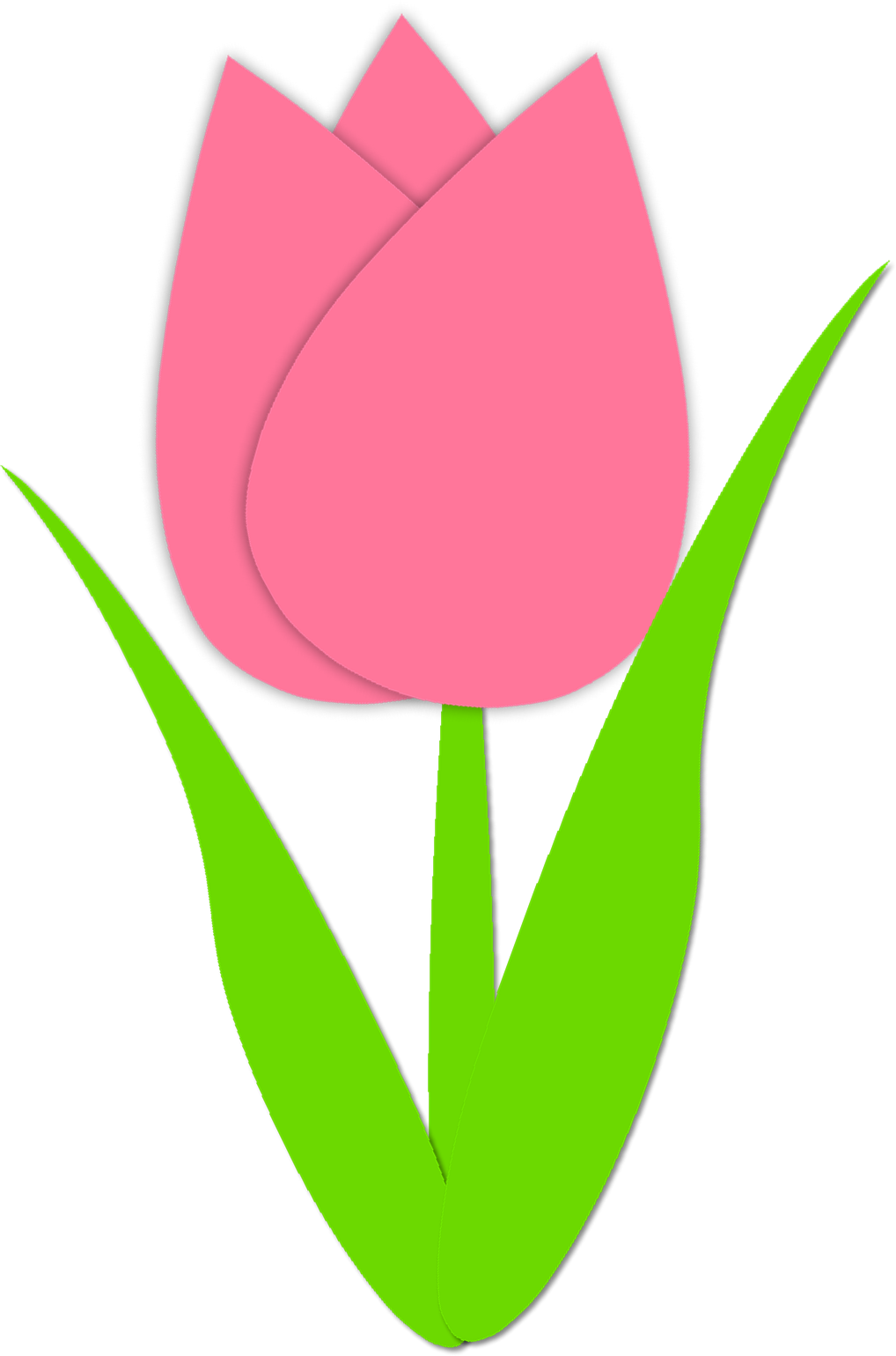 Pink and yellow tulip clip art clipart free download