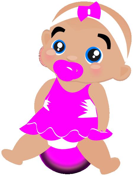 Pink Baby Girl Clip Art At Clker Com Vector Clip Art Online Royalty