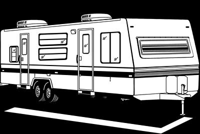 Pink Camper Van Clip Art. Camper cliparts