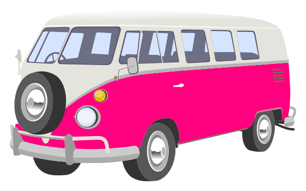 Pink Camper Van Clip Art