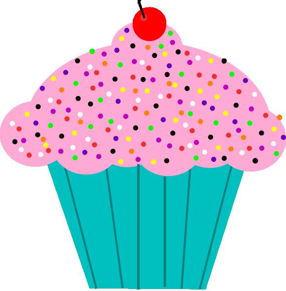 Pink Frosted Cupcake Clip Art At Clker Com Vector Clip Art Online