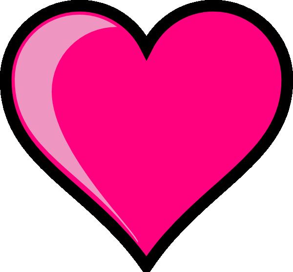 Pink Heart clip art - vector clip art online, royalty free