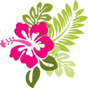 Pink Hibiscus clip art