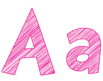 Pink Letter A Clipart #1