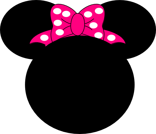 Pink Mouse Bow clip art - vector clip art online, royalty free .