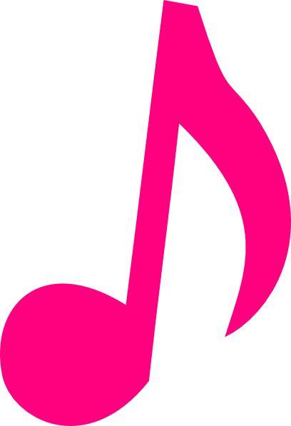 Pink Music Notes Clip Art | Pink music note clip art