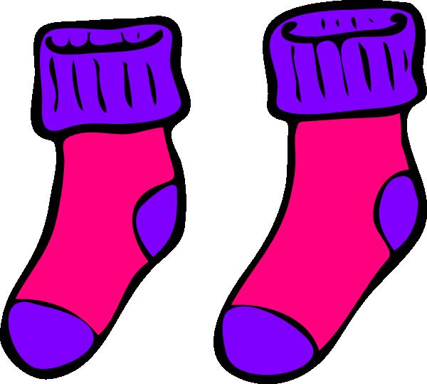 Pink Purple Sock Clip Art Vector Clip Art Online Royalty Free