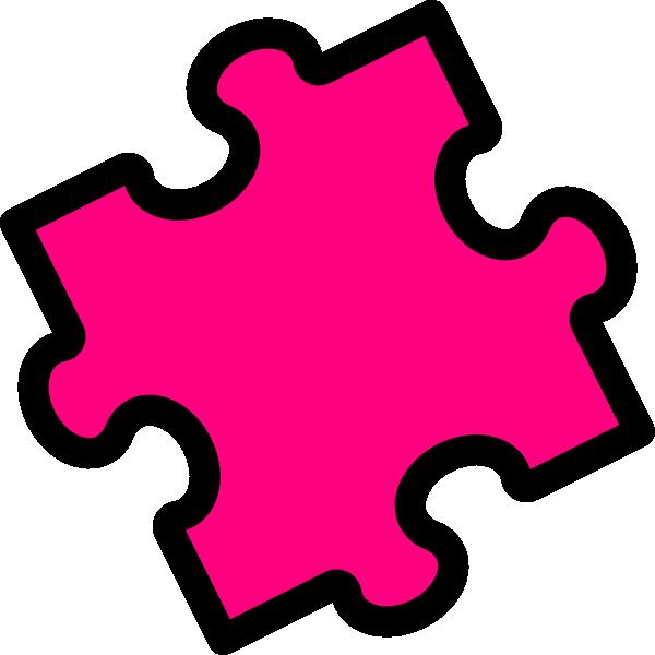 Pink Puzzle Piece Clip Art At Clker Com Vector Clip Art Online