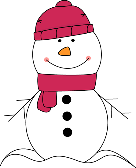 Pink Scarf And Hat Clip Art Snowman Wearing Pink Scarf And Hat Image