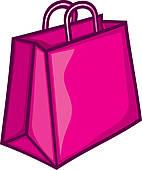 ... pink shopping bag ...