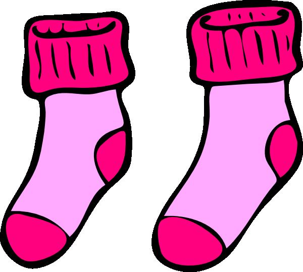 Pink Socks Clip Art At Clker Com Vector Clip Art Online Royalty