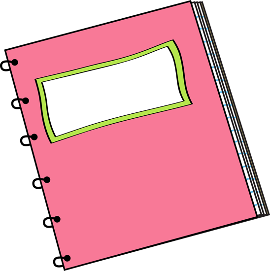 Pink Spiral Notebook With Blank Label Clip Art Pink Spiral Notebook