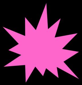 Pink Star Burst Clip Art At Clker Com Vector Clip Art Online