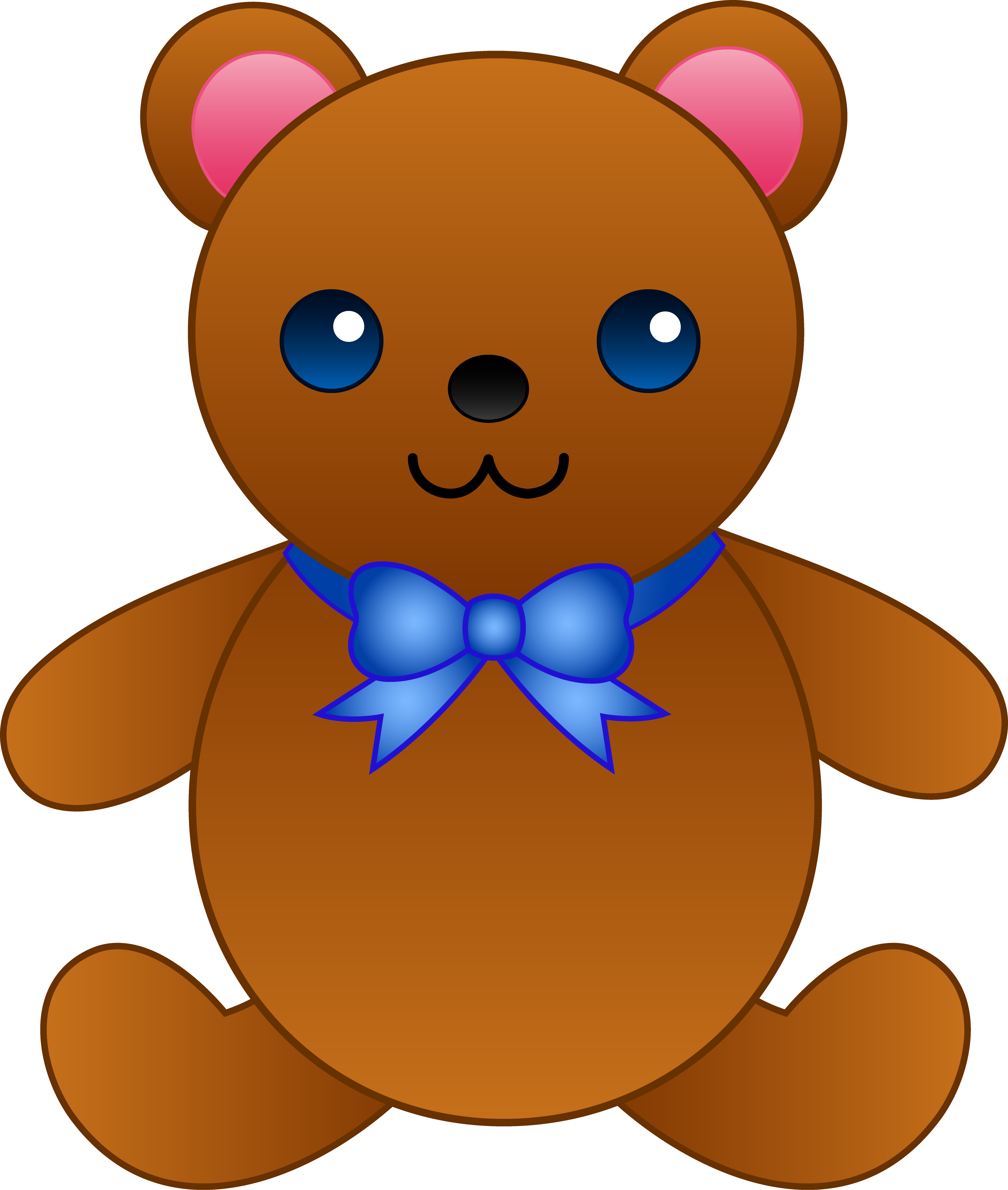 Pink teddy bear clipart free clipart images