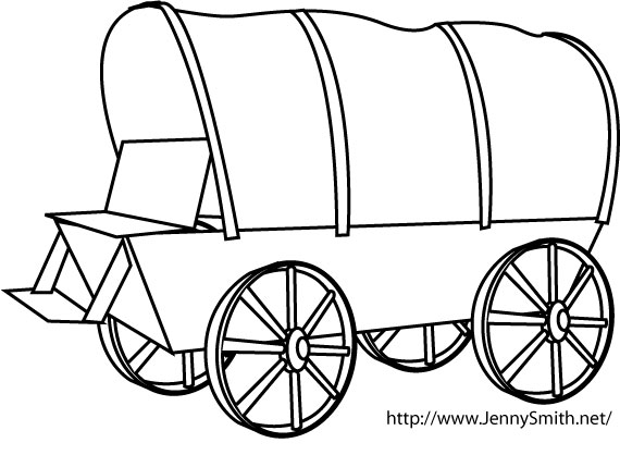 Pioneer Covered Wagon Clipart