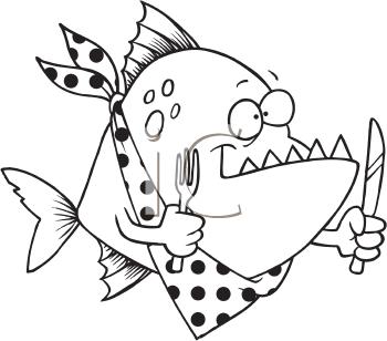 Piranha Oval Clipart