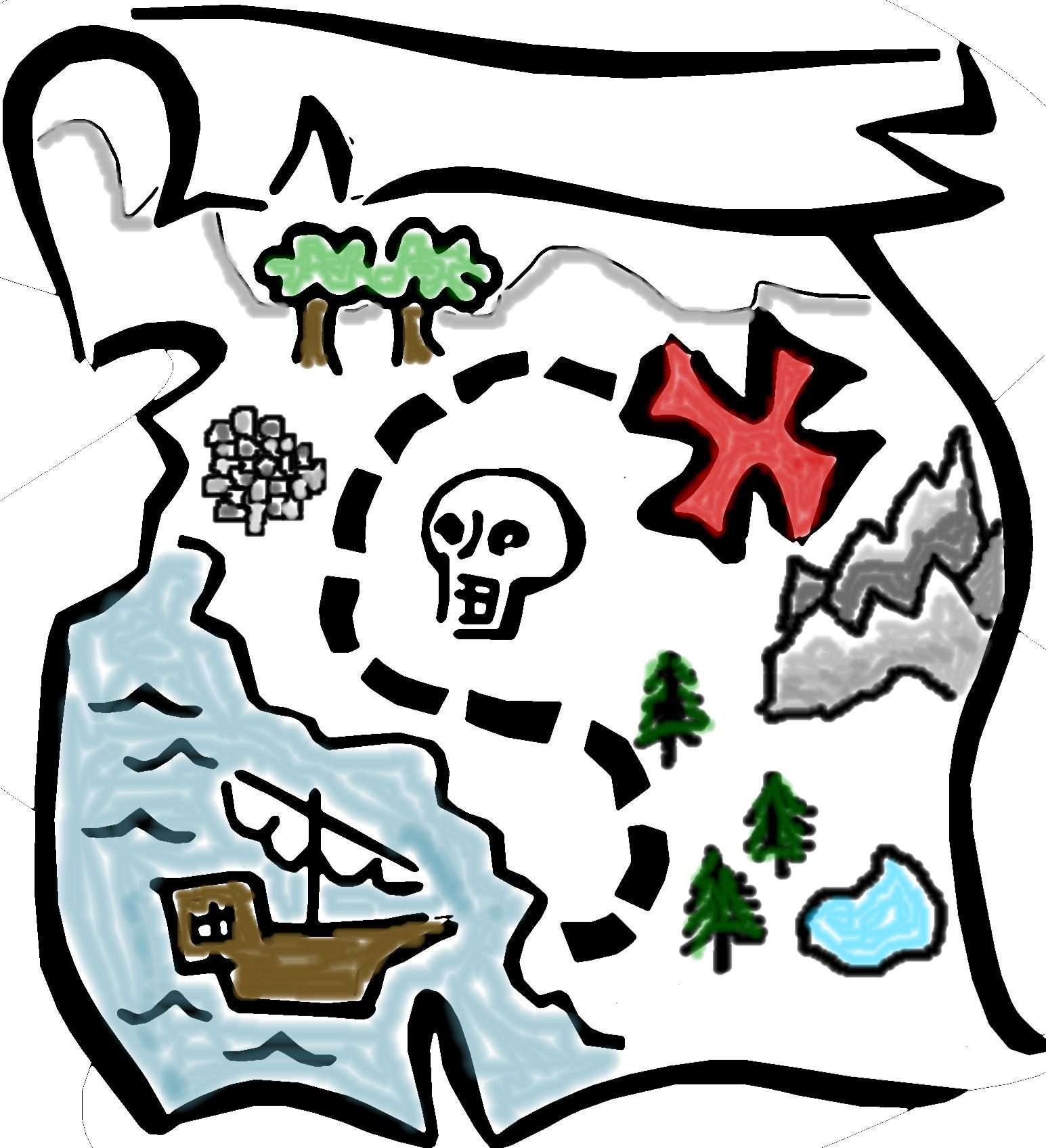 pirate treasure map clipart