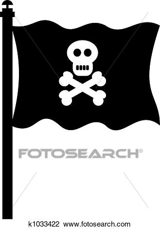 Clip Art - Pirate Flag. Fotosearch - Search Clipart, Illustration Posters,  Drawings,