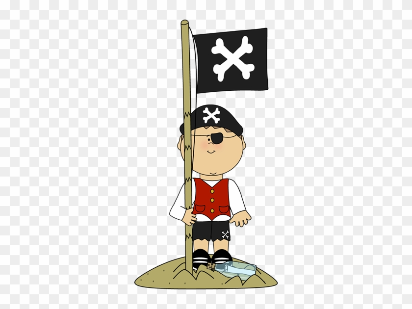 Island Clipart Cute - Pirate Flag Clipart