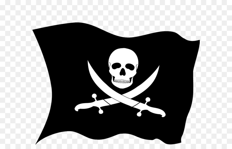 Jolly Roger Piracy Flag Clip art - Pirate flag PNG