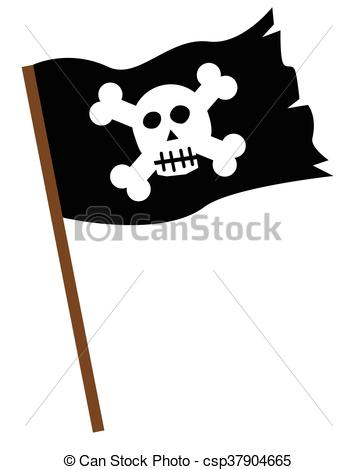 Pirate Flag - csp37904665 - Pirate Flag Clipart
