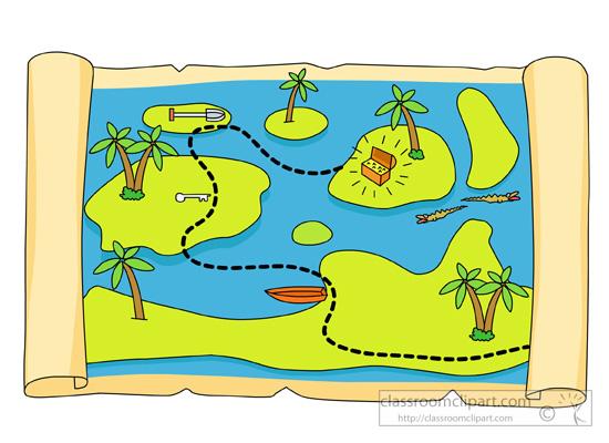 Pirates Treasure Map Clipart Classroom Clipart
