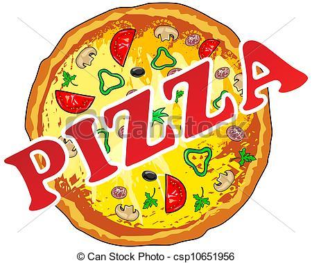 ... Pizza - Vector illustration of pizza