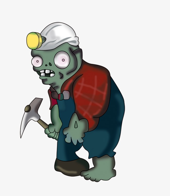 mining zombie, Plants Vs. Zombies, Zombie PNG Image and Clipart