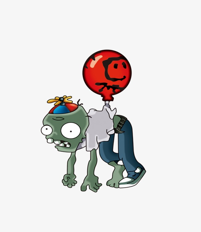 zombie balloon, Plants Vs. Zombies, Zombie PNG Image and Clipart