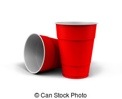 ... Plastic Cups - A render of generic plastic cups on white.