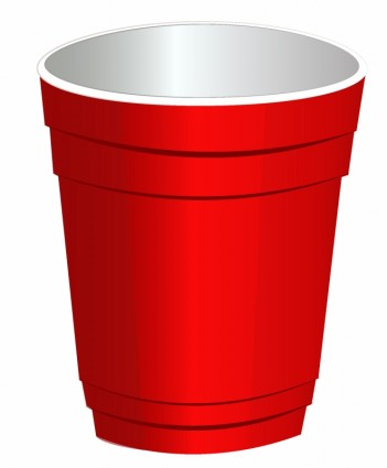 Plastic Cups Only Clipart