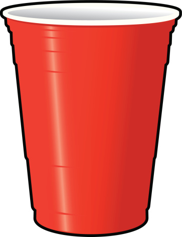 Plastic Cups Only Clipart. Red Solo Cup vector art .