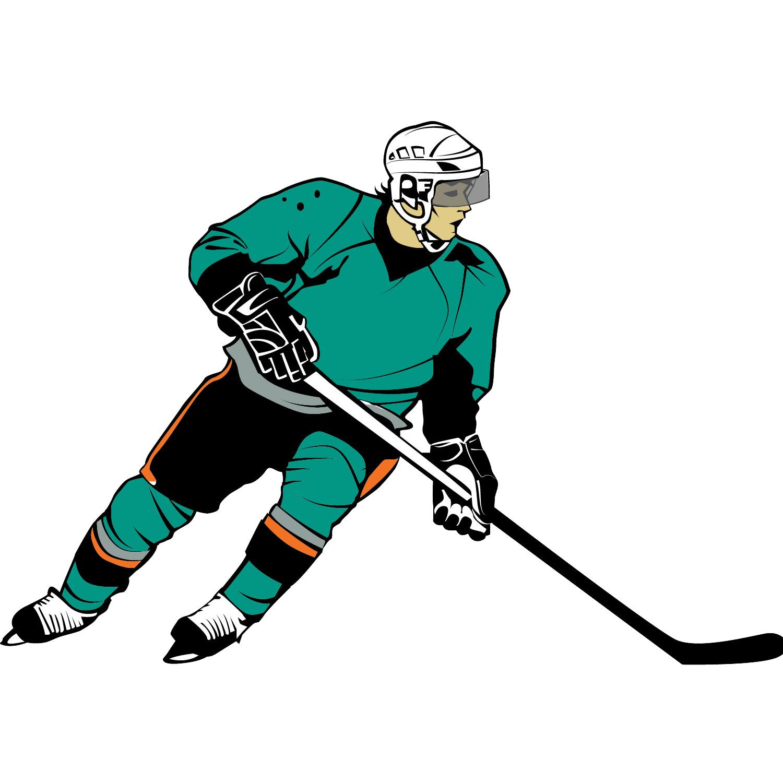 Player Clip Art; Hockey .