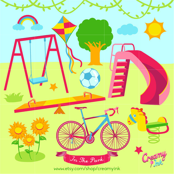 Playground clipart vector 2