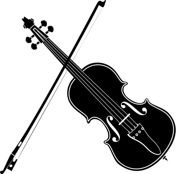Playing Violin Clipart Black And White   Clipart Panda - Free .